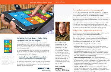White Paper: Increase Outside Sales Productivity using Mobile Technologies