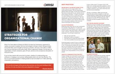 White Paper: Strategies For Organizational Change