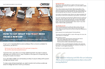 White Paper: How to get what you need from a new ERP