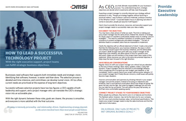 White Paper: How To Lead A Successful Technology Project