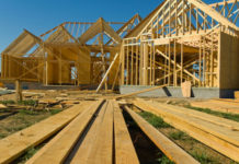 Wood framing home construction