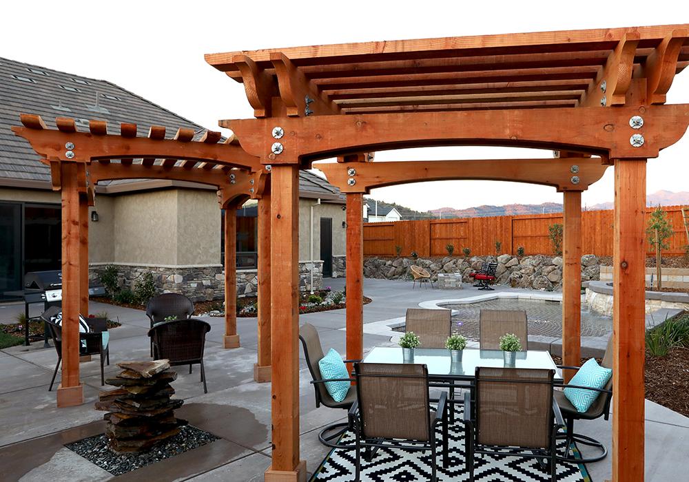 Redwood pergolas provide luxury finish to outdoor living spaces