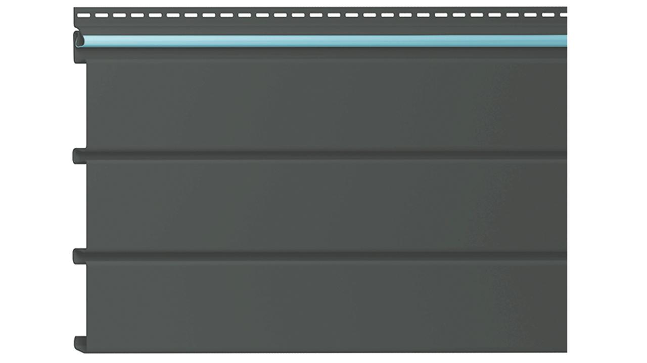 Alside black vinyl soffit