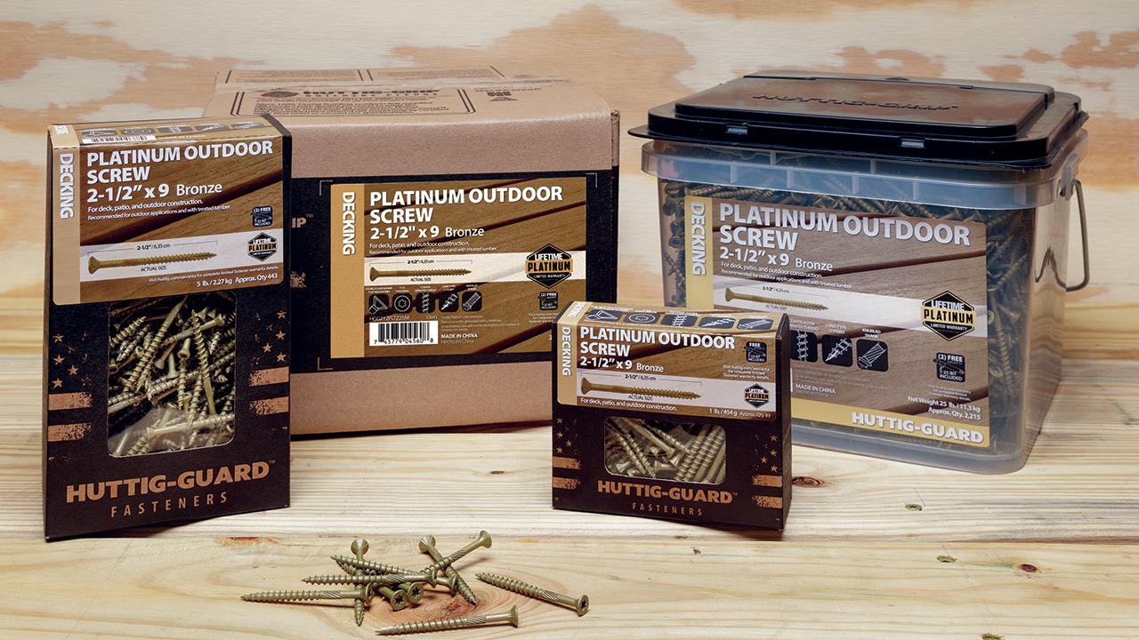 Huttig-Guard Platinum Screws fasteners