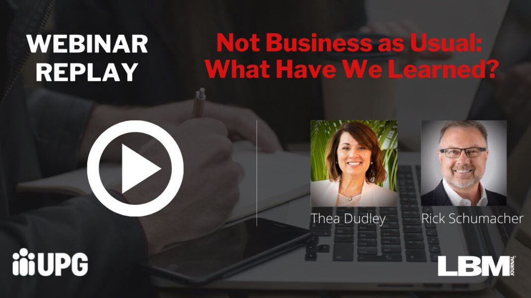 Not Business as Usual: What Have We Learned?