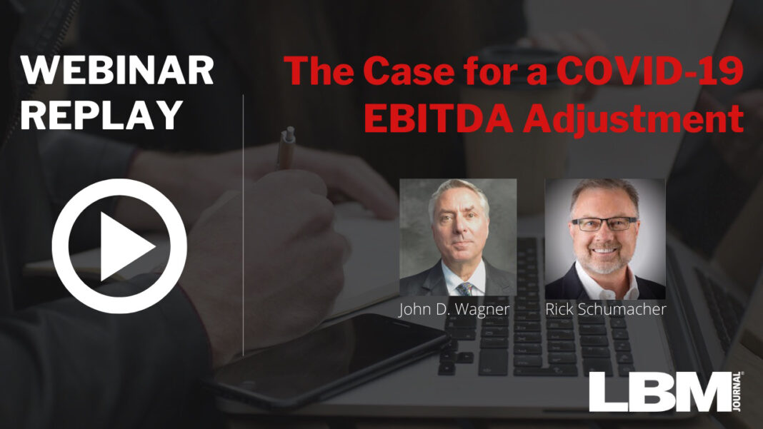 The Case for a COVID-19 EBITDA Adjustment