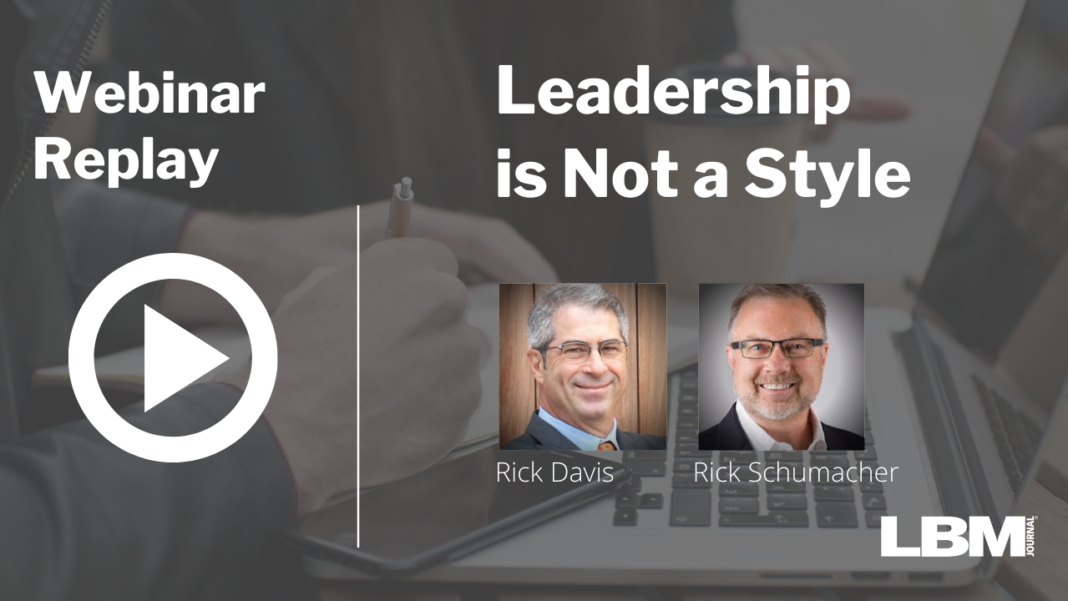 Leadership is Not a Style