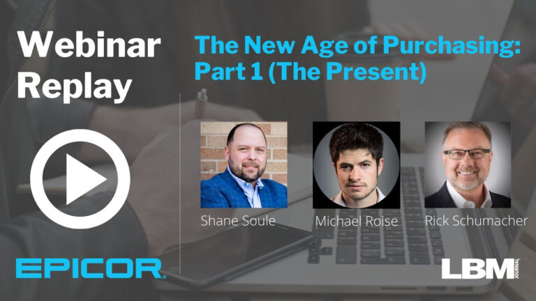 Webinar Replay: The New Age of Purchasing: Part I (The Present)