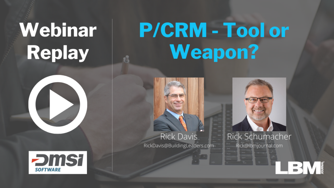 P/CRM - Tool or Weapon