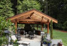 Humboldt Sawmill - outdoor kitchen