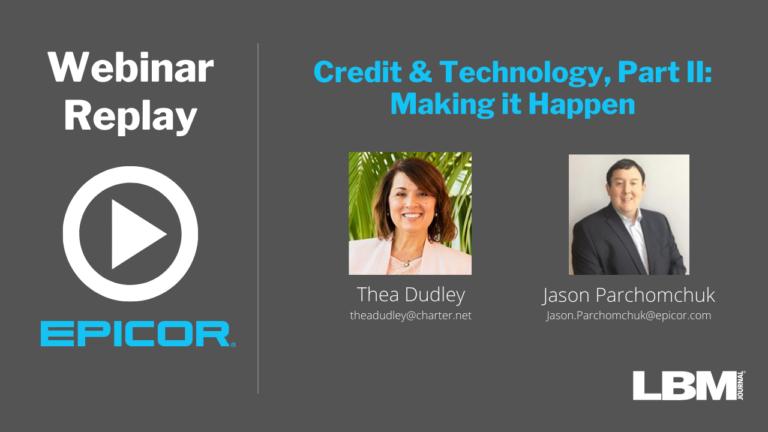 Webinar Replay: Credit & Technology, Part II: Making it Happen