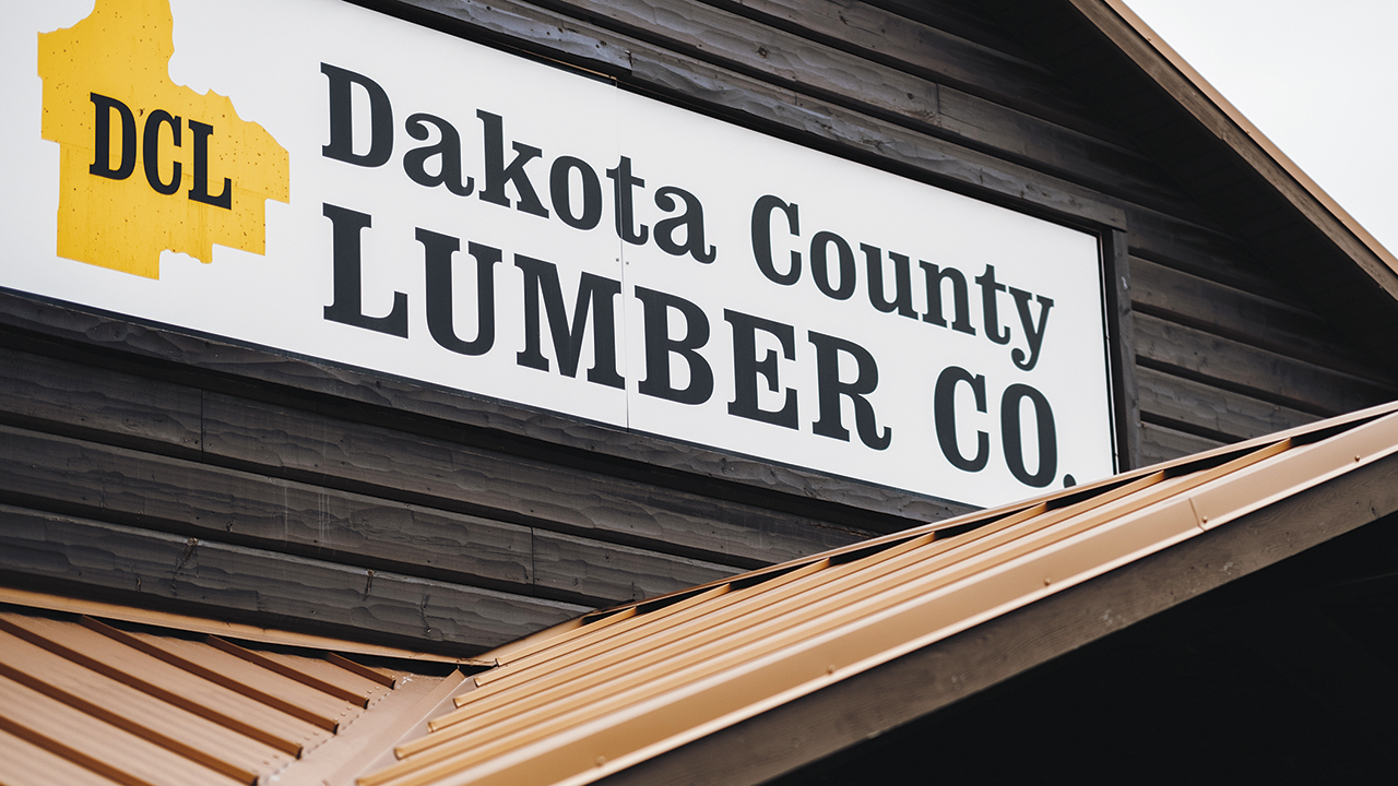 Dakota County Lumber sign