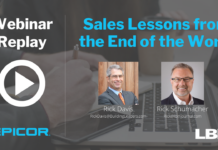 Sales Lessons from the End of the World