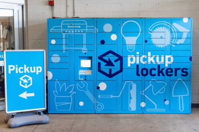 Lowe's pickup lockers