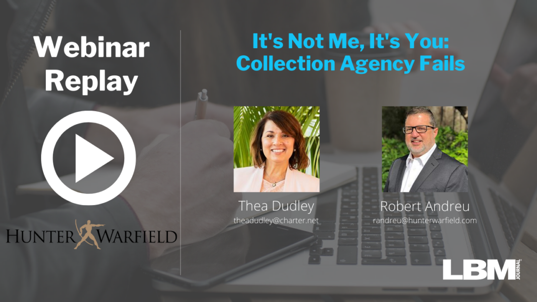 It's Not Me, It's You: Collection Agency Fails