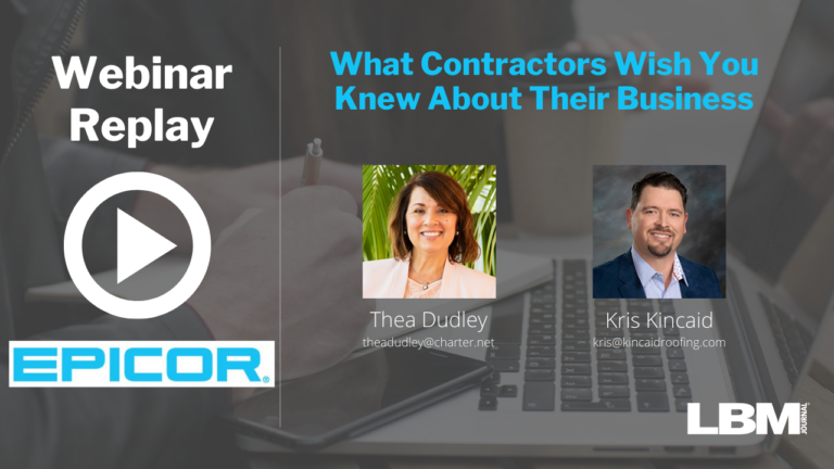 Webinar Replay: What Contractors Wish You Knew About Their Business