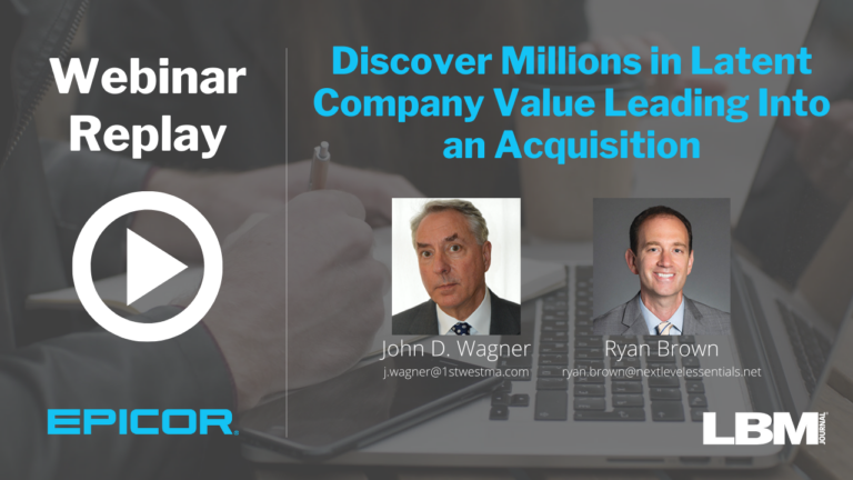 Webinar Replay: Discover Millions in Latent Company Value Leading Into an Acquisition