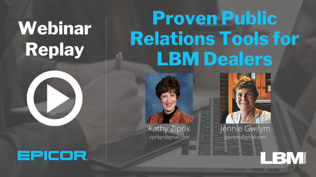 Proven Public Relations Tools for LBM Dealers
