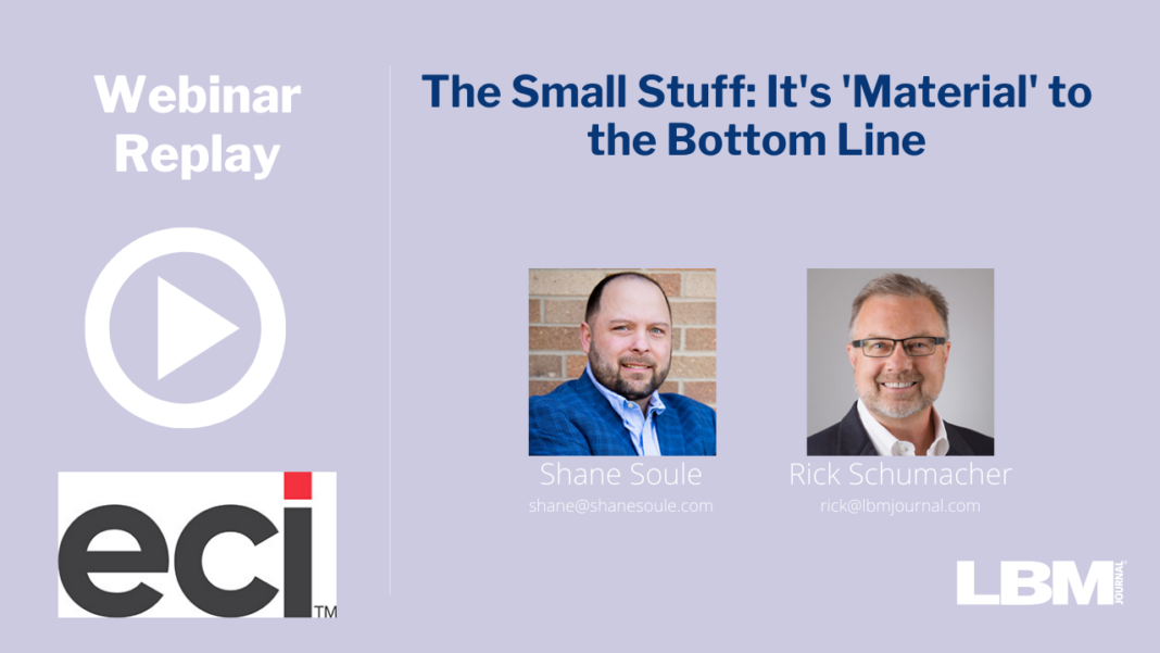 The Small Stuff: It's 'Material' to the Bottom Line