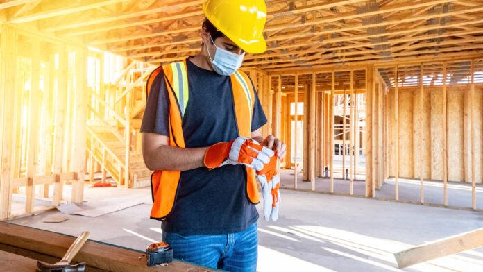 construction jobs, Builder confidence, pandemic, mask, construction
