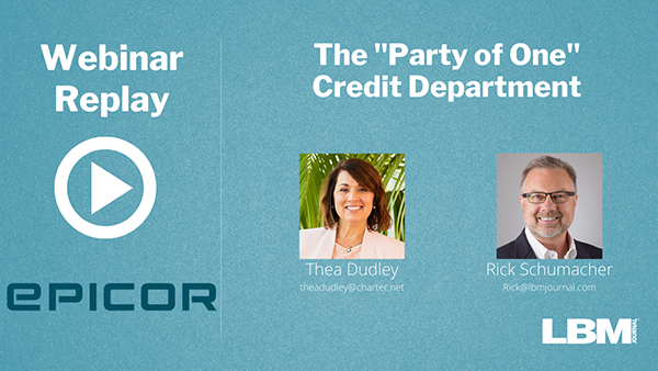 """The """"Party of One"""" Credit Dept."""
